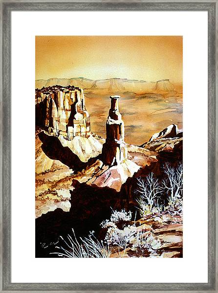 Colorado Monument Framed Print