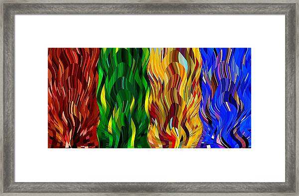 Colored Fire Framed Print