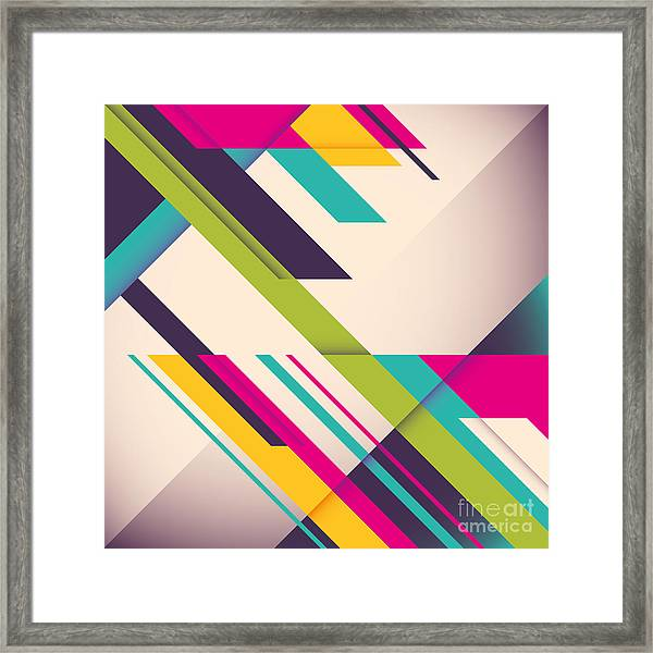 Colorful Background With Designed Framed Print