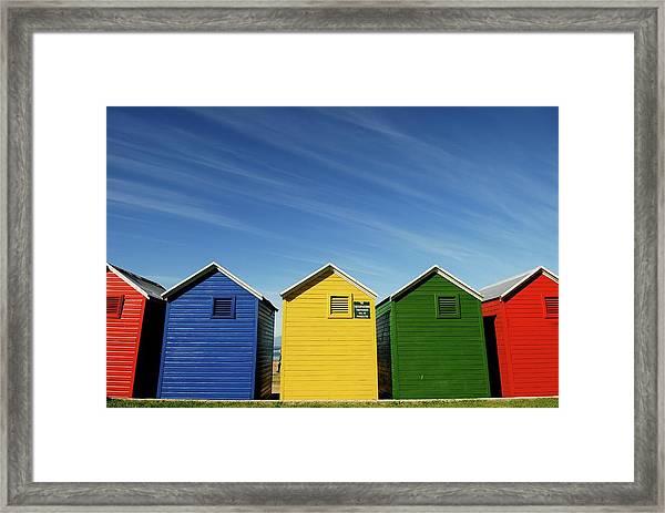 Colorful Beach House Framed Print