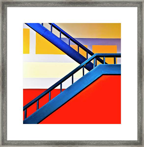 Colorful Climb Framed Print by By Wesbs