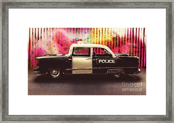 Colorful Crime  Framed Print