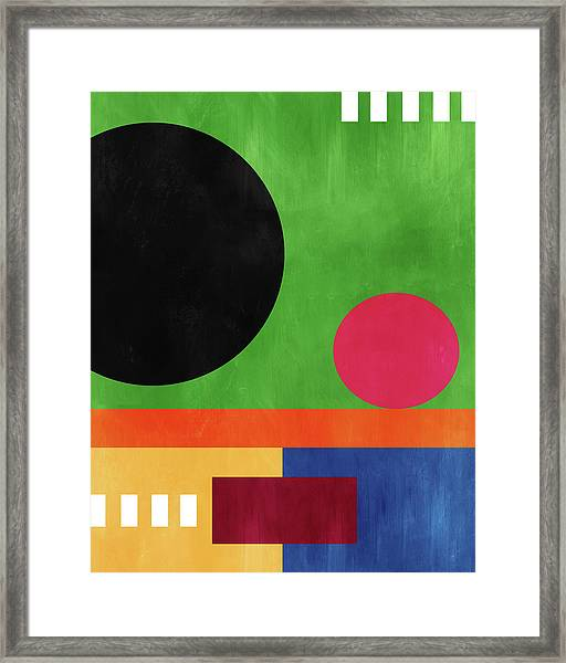 Colorful Geometric Abstract 4- Art By Linda Woods Framed Print