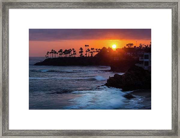 Colorful Laguna Beach Sunset Framed Print