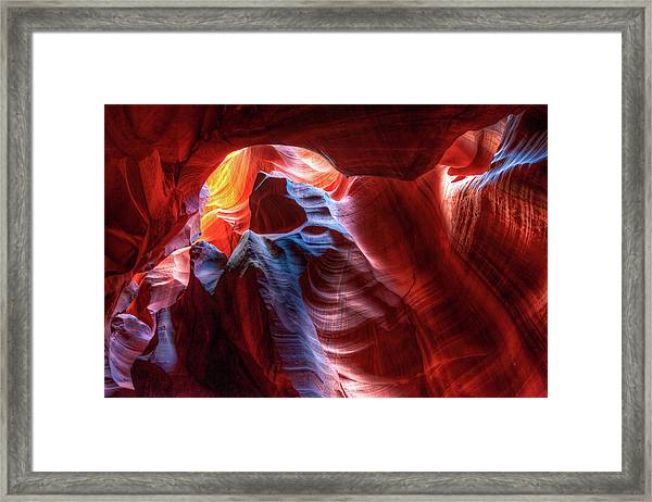 Colorful Layers Of Antelope Canyon Framed Print