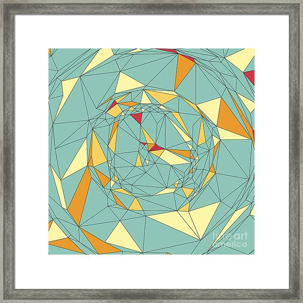 Colorful Pixels Mosaic. Abstract Framed Print by Login