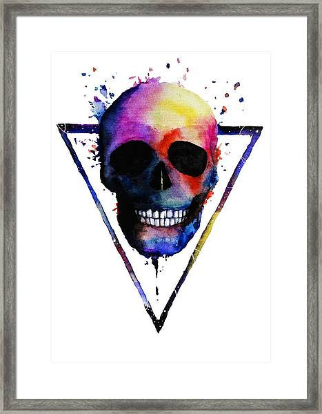 Colorful Skull Framed Print