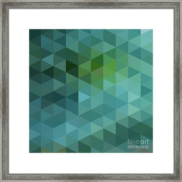 Colorful Triangles Background Framed Print