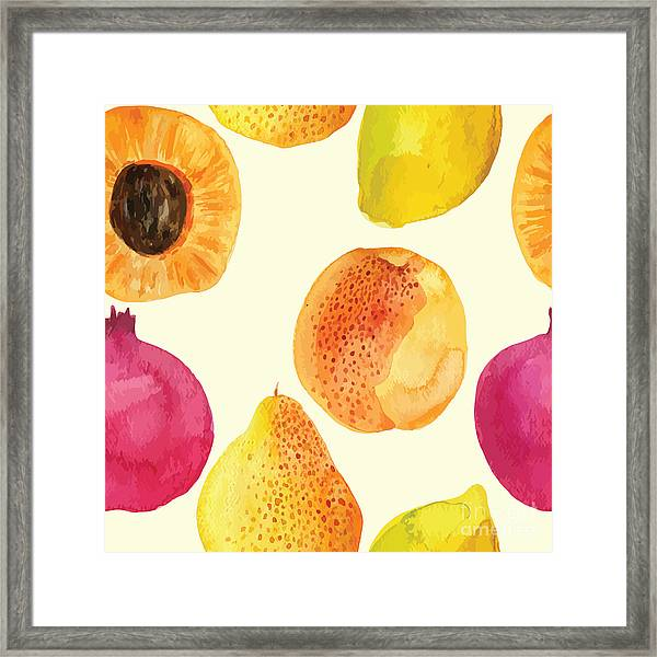 Colorful  Watercolor Vector Fresh Framed Print by Alexandra Dzh