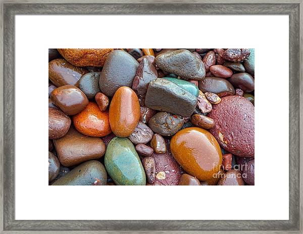 Colorful Wet Stones Framed Print