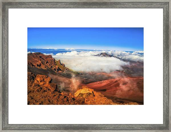 Colors And Clouds Framed Print by Fernando Margolles