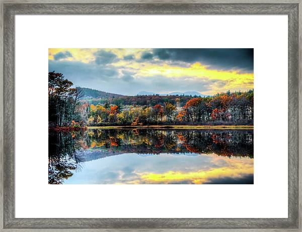 Colors In Fall Framed Print by Joe Martin A New Hampshire Portrait Photographer