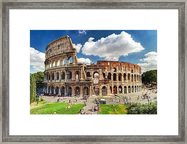 Colosseum In Rome, Italy. Ancient Roman Framed Print by Viacheslav Lopatin