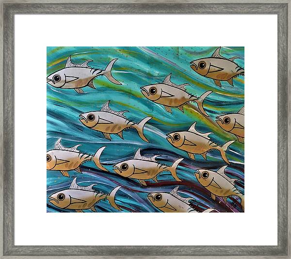 Coloured Water Fish Framed Print