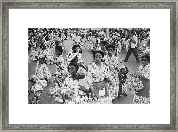 Colourful Cubans Framed Print