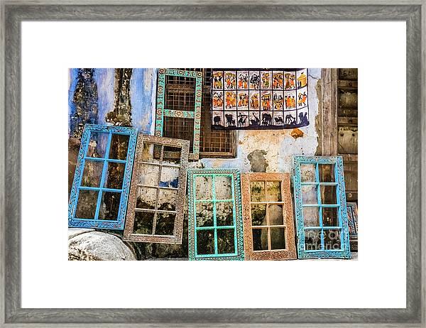 Colorful Window Frames Framed Print
