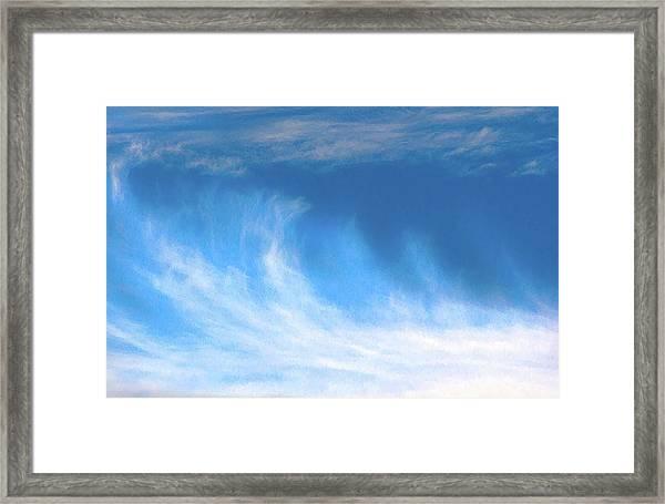 Colours. Blue Framed Print