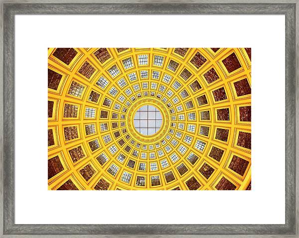 Colours. Gold Framed Print