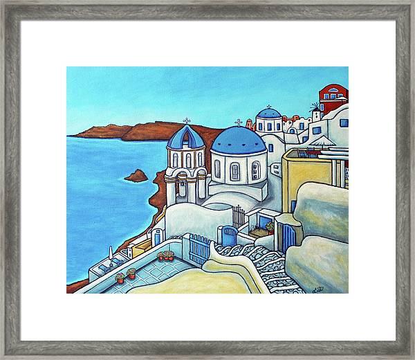 Colours Of Santorini Framed Print