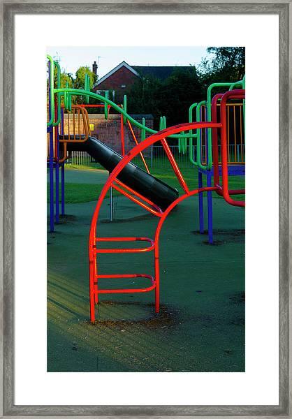 Colours. Red  Framed Print