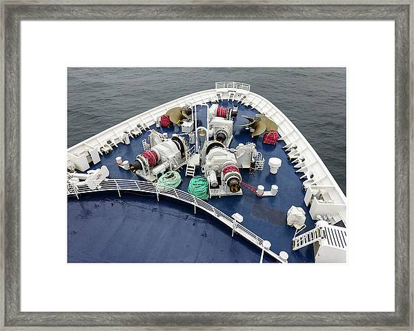 Colours. Sea Green Framed Print