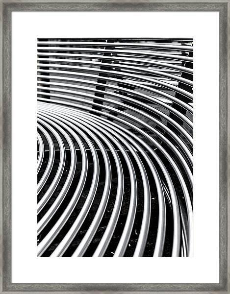 Colours. Silver Framed Print