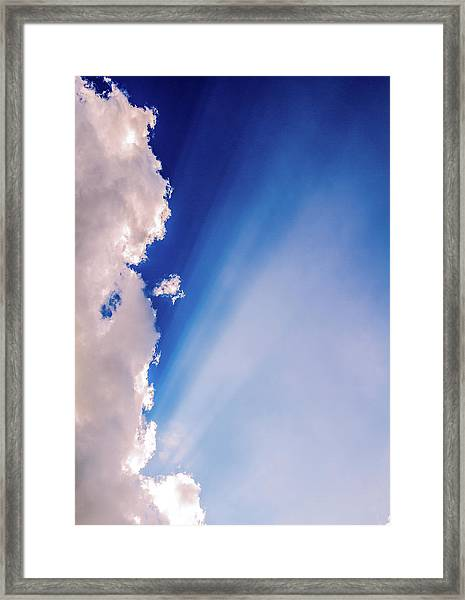 Colours.blue Framed Print