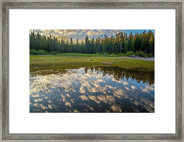 Colter Bay Reflections Framed Print