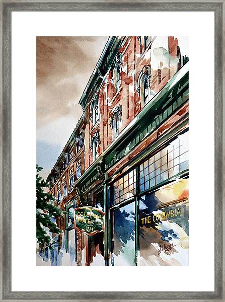 Columbia Water Framed Print