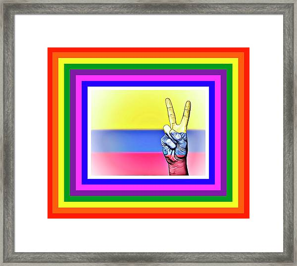 Columbia World Peace Framed Print