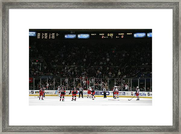 Columbus Blue Jackets V New York Rangers Framed Print