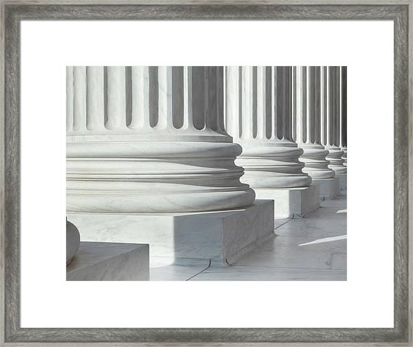 Column Outside U.s. Supreme Court Framed Print