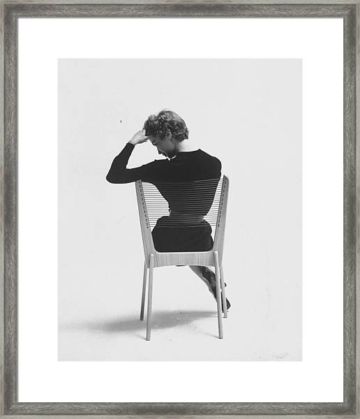 Comfort Of Chair Comes From Fact That Is Framed Print