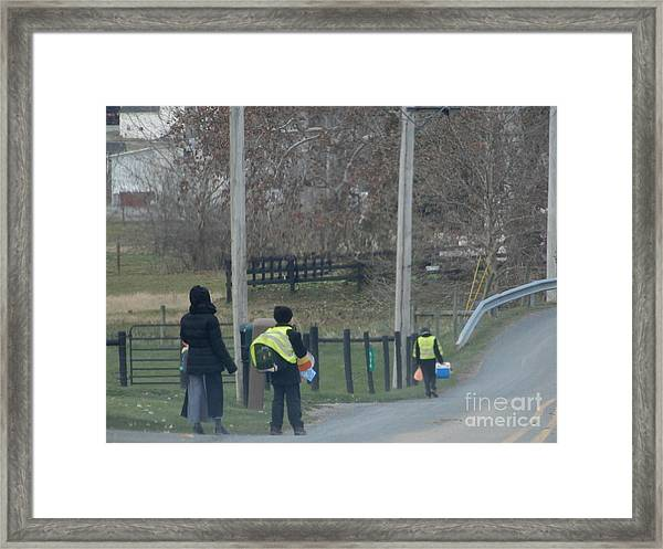 Coming Home From School Framed Print