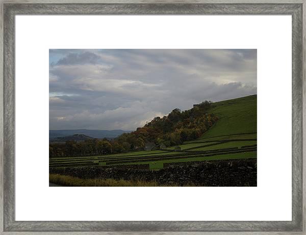 Derbyshire Stone Walls Framed Print