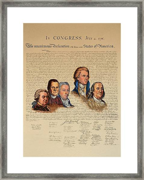 Committee Of Five Framed Print