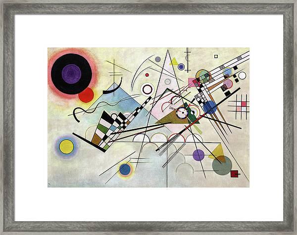 Composition 8 - Komposition 8 Framed Print