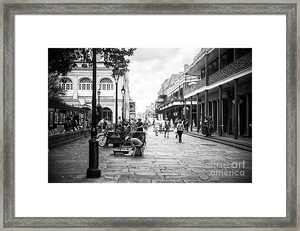 Concentration In New Orleans Framed Print by John Rizzuto