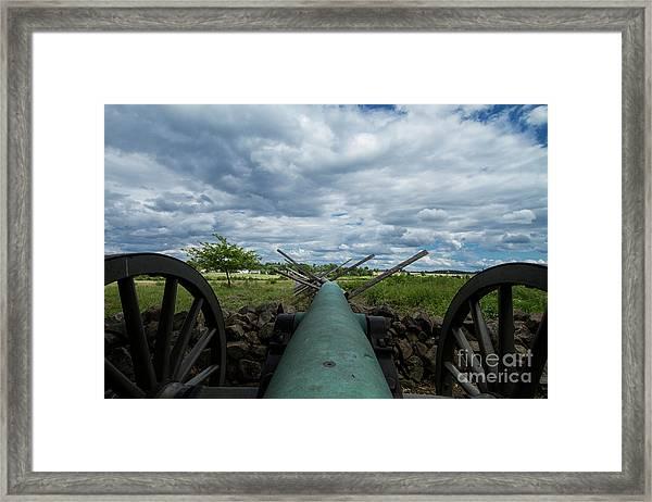 Confederate Canon Framed Print