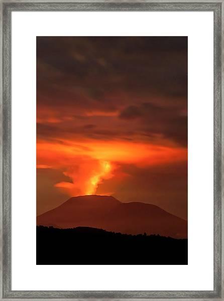 Congo Volcanic Eruption 2011 Framed Print