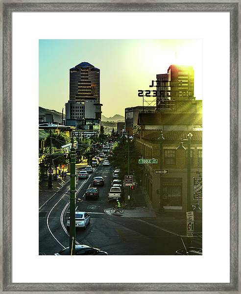 Framed Print featuring the photograph Congress Street by Chance Kafka