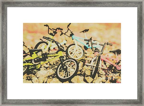 Conquering Boulder Peak Framed Print
