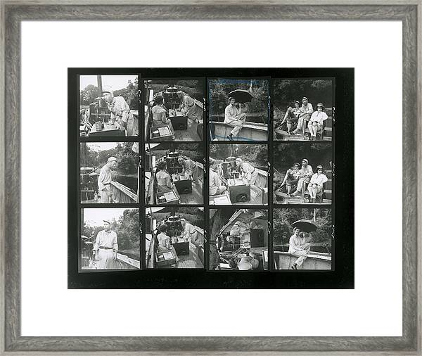 Contact Sheet From The African Queen Framed Print