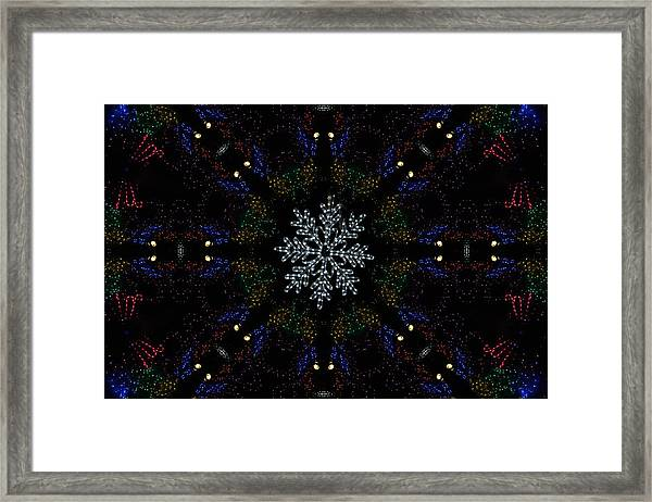 Continuous Christmas Lights Framed Print