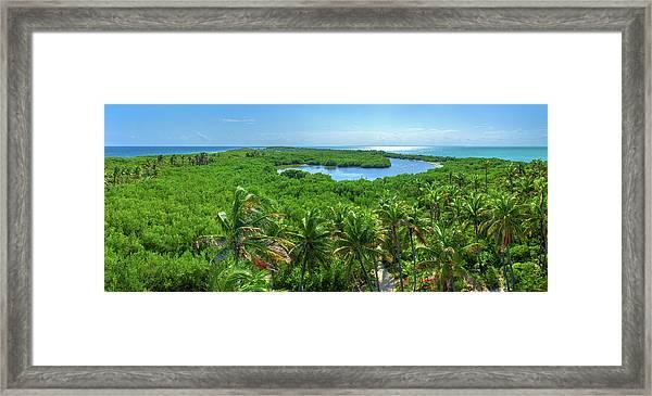 Contoy Island Framed Print