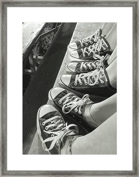 Converse Blues Framed Print