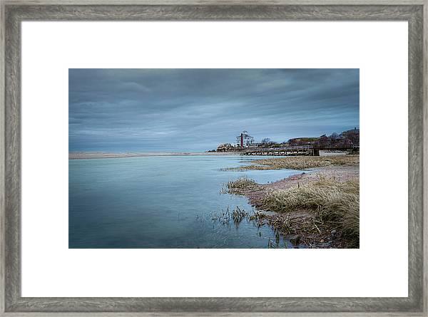 Cool Blue At Good Harbor Framed Print