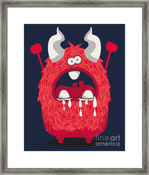 Cool Monster, Yeti, Alien Framed Print