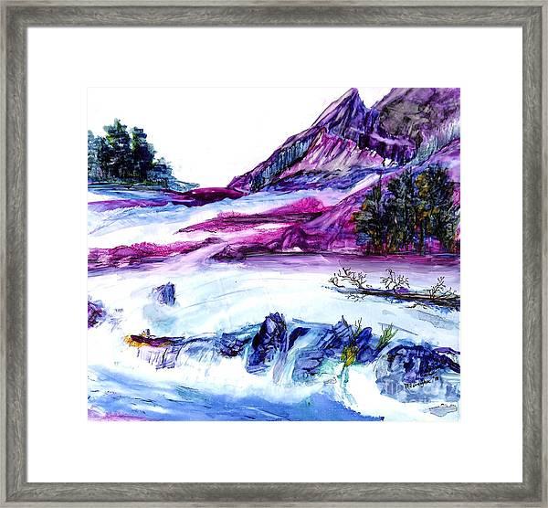 Cool Stream Framed Print
