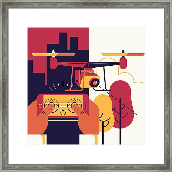 Cool Vector Trendy Flat Design Framed Print by Mascha Tace